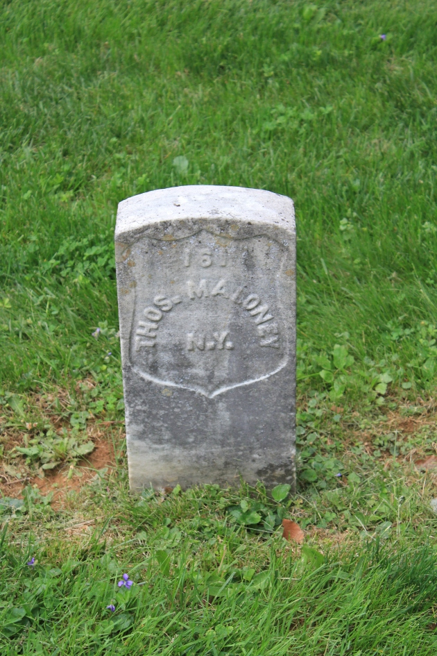 Thomas Maloney, Antietam National Cemetery (Damian Shiels)