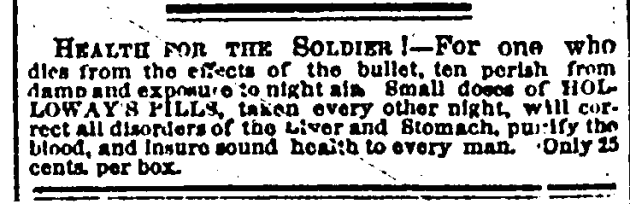 18 July 1863 Loway Pills