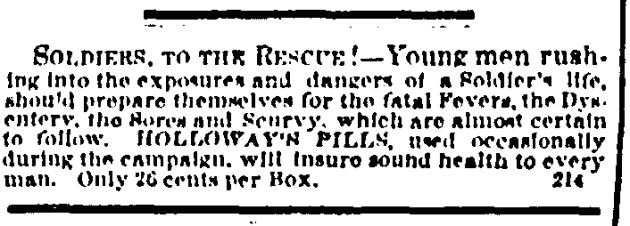 21 February 1863 Holloways Pills