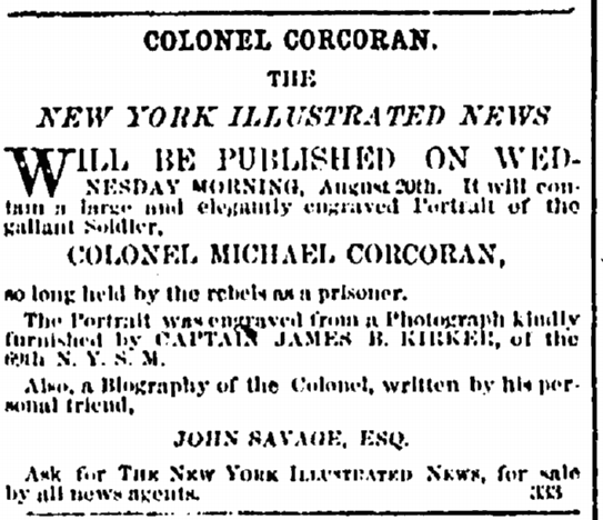 23 August 1862 Corcoran Book