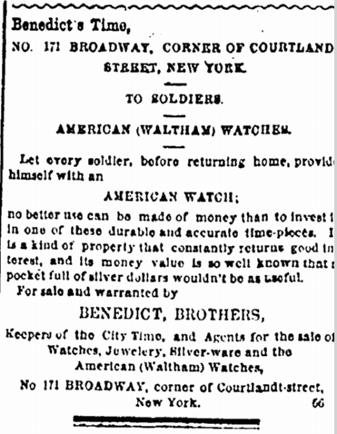 29 June 1865 Watch