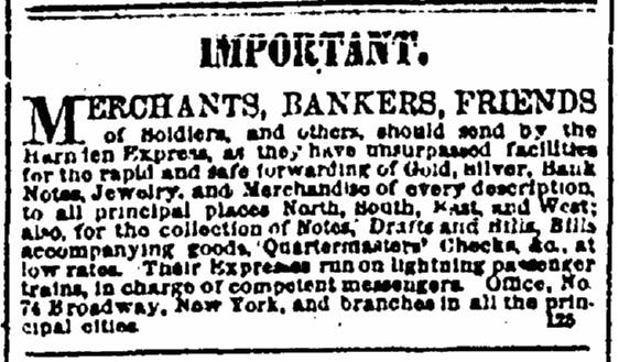 9 April 1862 Harndens Express