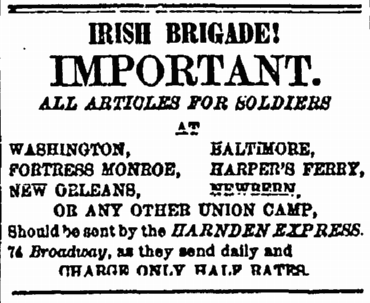 9 May 1863 Irish Brigade Harnden Express