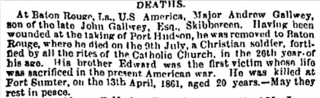 The obituary of Cork Examiner