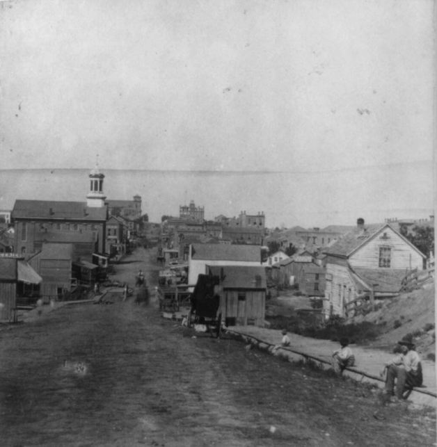 Fifth Street, Leavenworth, Kansas as it appeared in 1867.