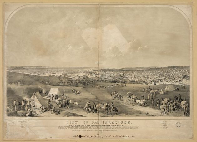 San Francisco in 1851 (Library of Congress)