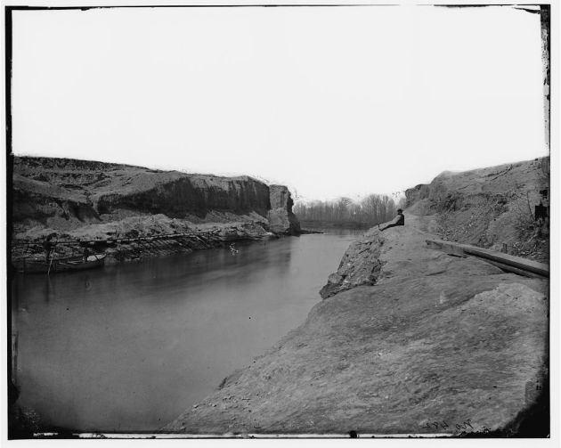 The completed Dutch Gap Canal (Library of Congress)