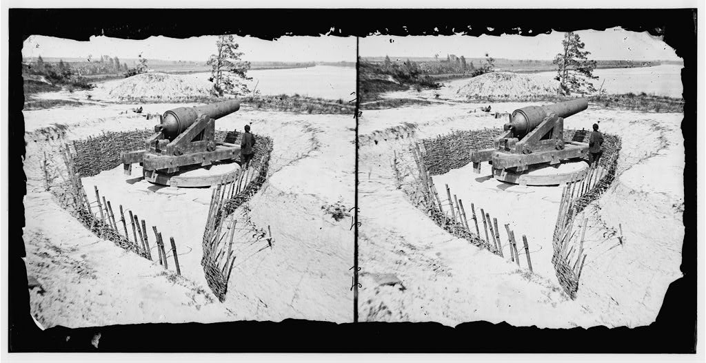Confederate Battery on the James (Library of Congress)