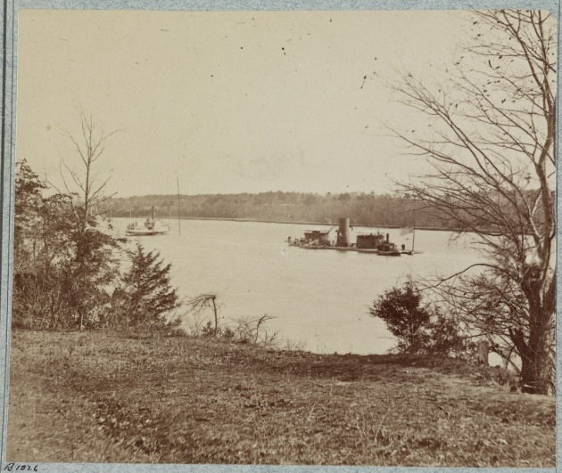 The USS Onondaga on the James (Library of Congress)
