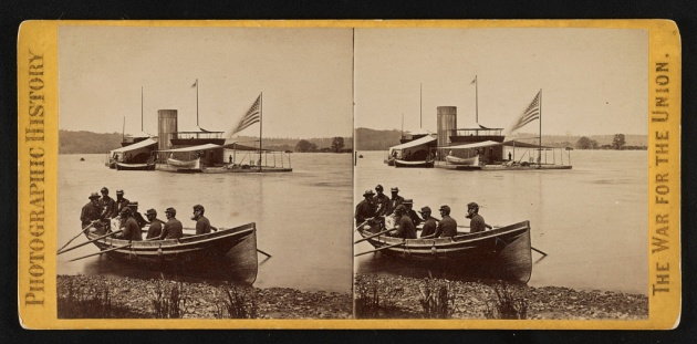 USS Onondaga on the James River (Library of Congress)