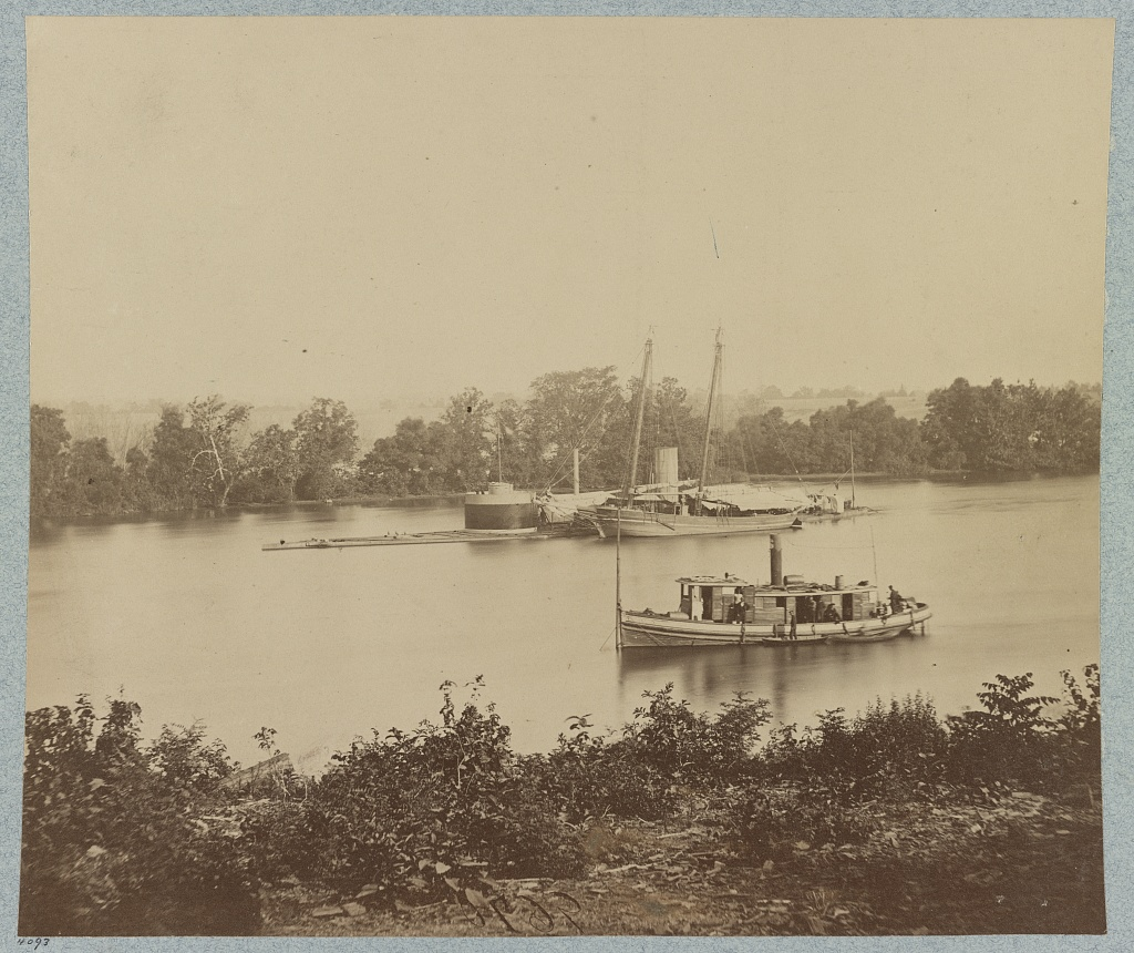 The USS Canonicus on the James (Library of Congress)