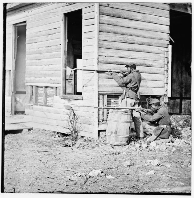 A USCT picket station near Dutch Gap Canal (Library of Congress)