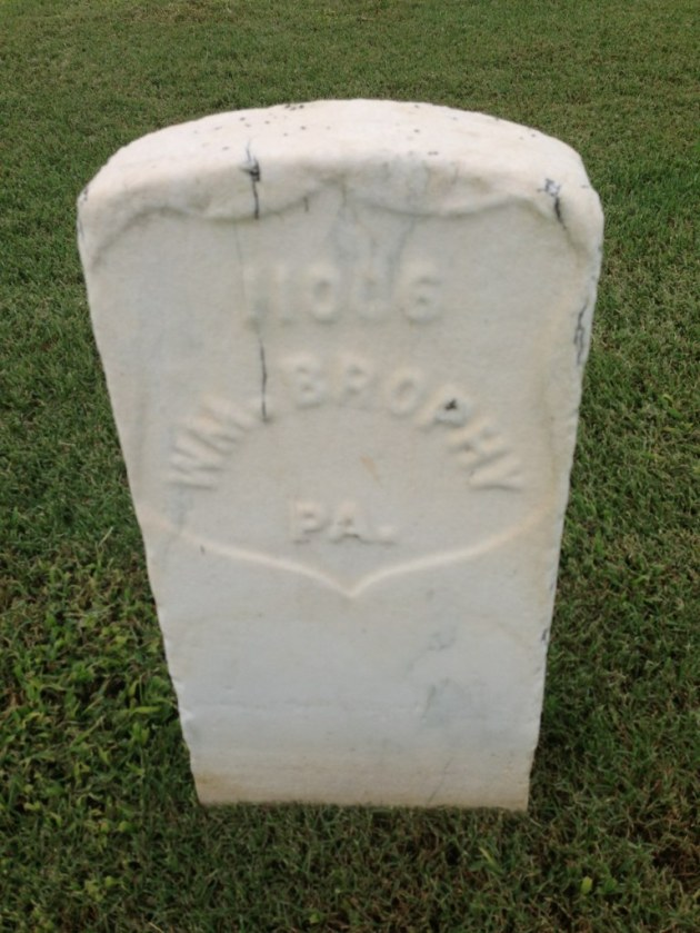 William Brophy's Gravestone (Photo: Rlturner53)
