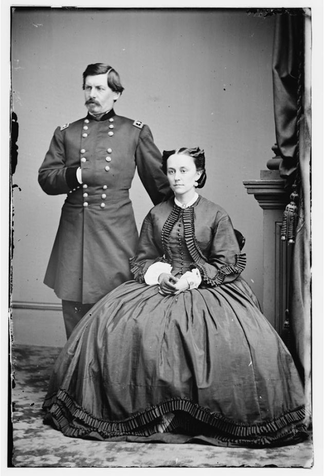 George McClellan and his wife during the Civil War (Library of Congress)