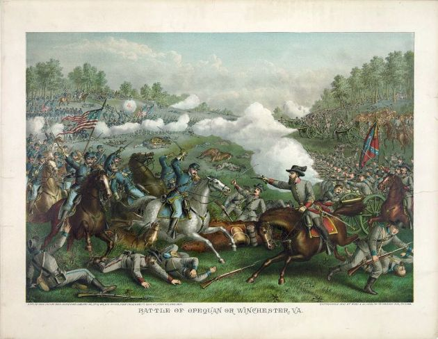 The Battle of Opequon (Third WInchester) by Kurz & Allison (Library of Congress)