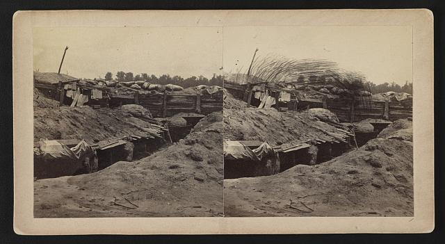Confederate earthworks at Port Hudson, the 165th New York's destination (Library of Congress)