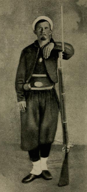 Frank's friend Samuel Gelston in 1862 (Album of the Second Battalion)