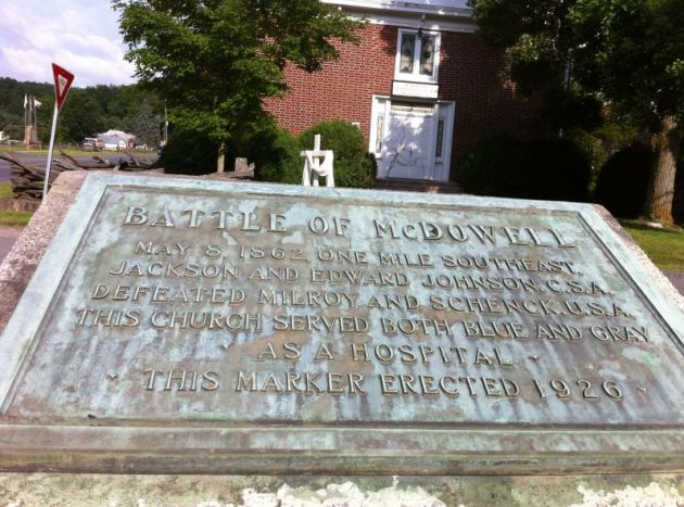 Plaque commemorating the Battle of McDowell (Image by Pete Unseth)