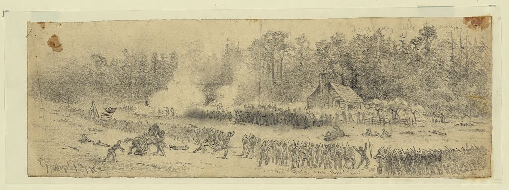 Charge of Union troops at the Battle of Cedar Mountain in 1862 (Library of Congress)