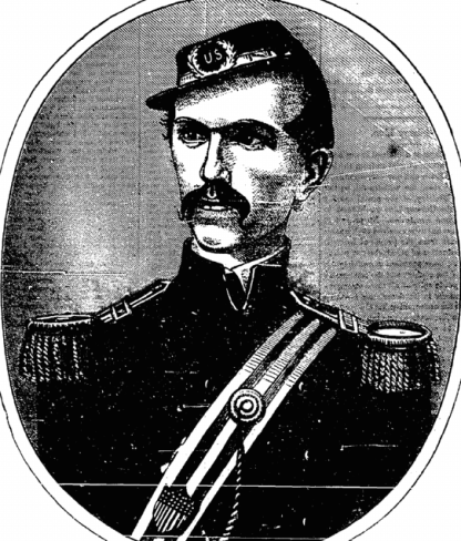 Colonel Michael Corcoran of the 69th New York State Militia. Printed on 22nd June 1861. Less than a month after this was printed Corcoran was captured at First Bull Run. He died a Brigadier-General in 1863 (New York Irish American)