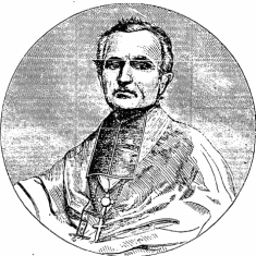 Monseigneur Félix Dupanloup, Bishop of Orlean, France. His portrait was printed on 11th May 1861 because of the Bishop's words pleading the cause of the Irish people (New York Irish American)