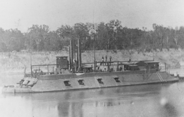The USS Mound City, on which Patrick Vaughan Junior served (Naval History and Heritage Command)