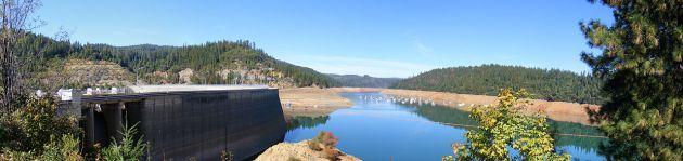 The New Bullard's Bar Reservoir, California, which today inundates the 1850s mining settlement (Photo by J. Smith)