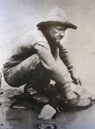 A 49er on the American River (History of the United States)