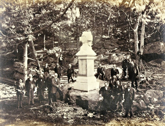 Veterans of the 9th Massachusetts at the unveling of their memorial on Big Round Top, Gettysburg on 9th June 1885 (Courtesy of John Banks)