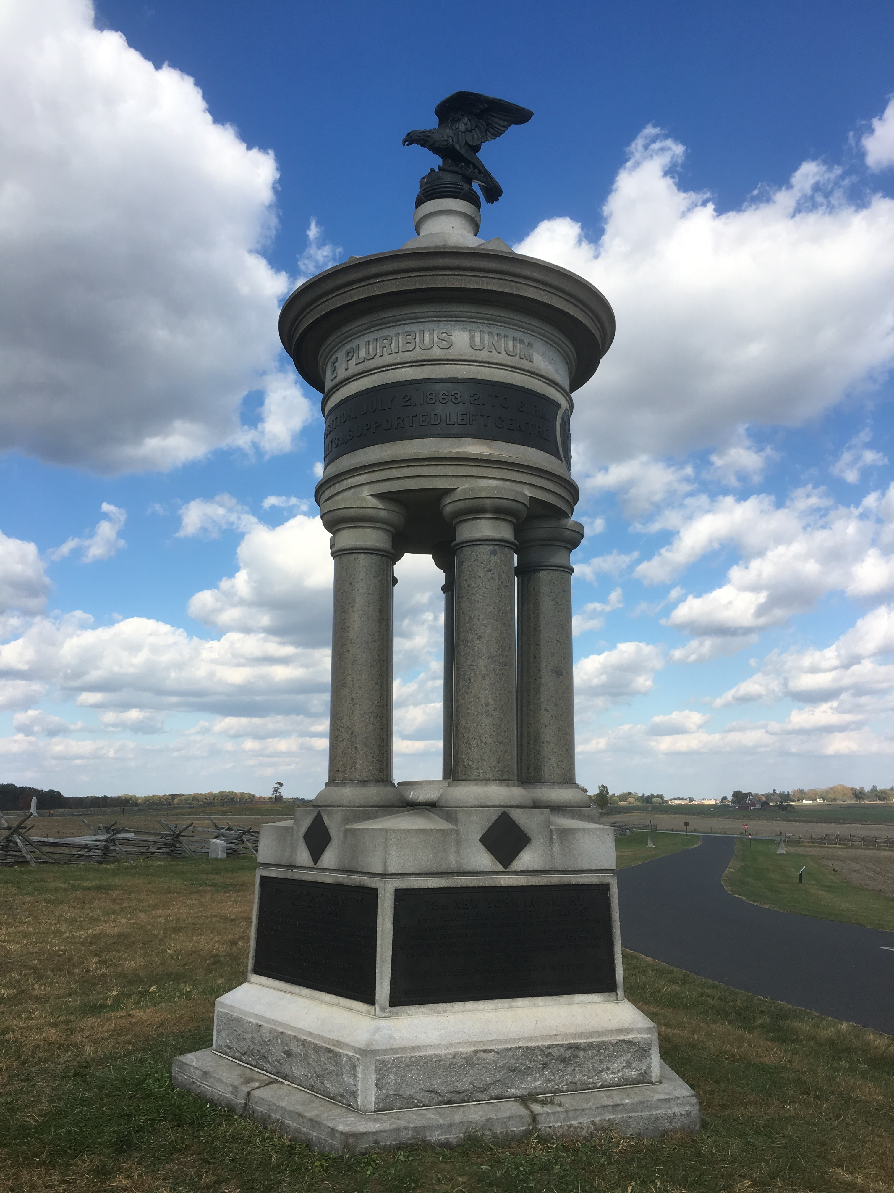 Excelsior Brigade Memorial, Gettysburg (Damian Shiels)