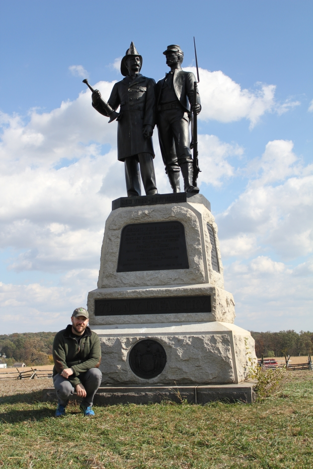 73rd New York (2nd Fire Zouaves) Memorial, Gettysburg (Damian Shiels)