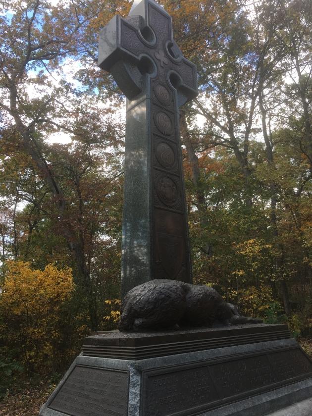 Memorial to the New York Regiments of the Irish Brigade at Gettysburg (Damian Shiels)