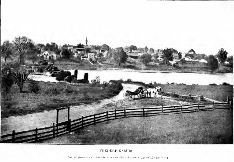 Depiction of Fredericksburg from the 1906 Regimental History of the 20th Massachusetts (The Twentieth Regiment)