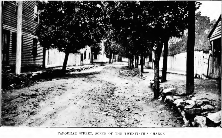 Depiction of the Fredericksburg Streets where the 20th Massachusetts were engaged, depicted in the 1906 regiment history (20th Massachusetts)