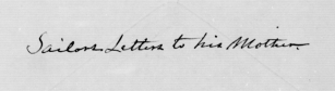 Inscription on package of letters in James Nugent pension file (NARA/Fold3)
