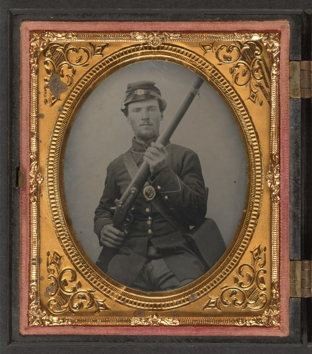 A private in the 120th Ohio Infantry (Library of Congress)