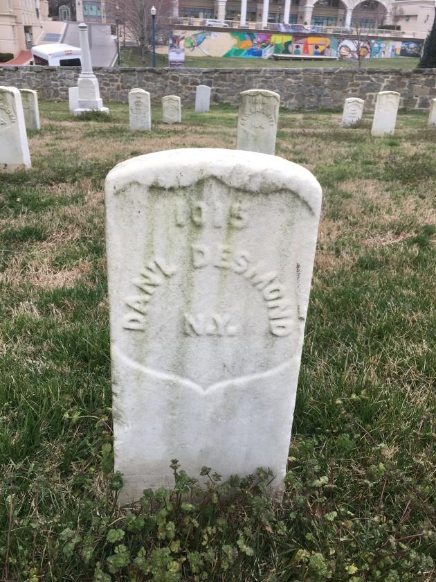 The grave of Daniel Desmond, Annapolis National Cemetery (Damian Shiels)