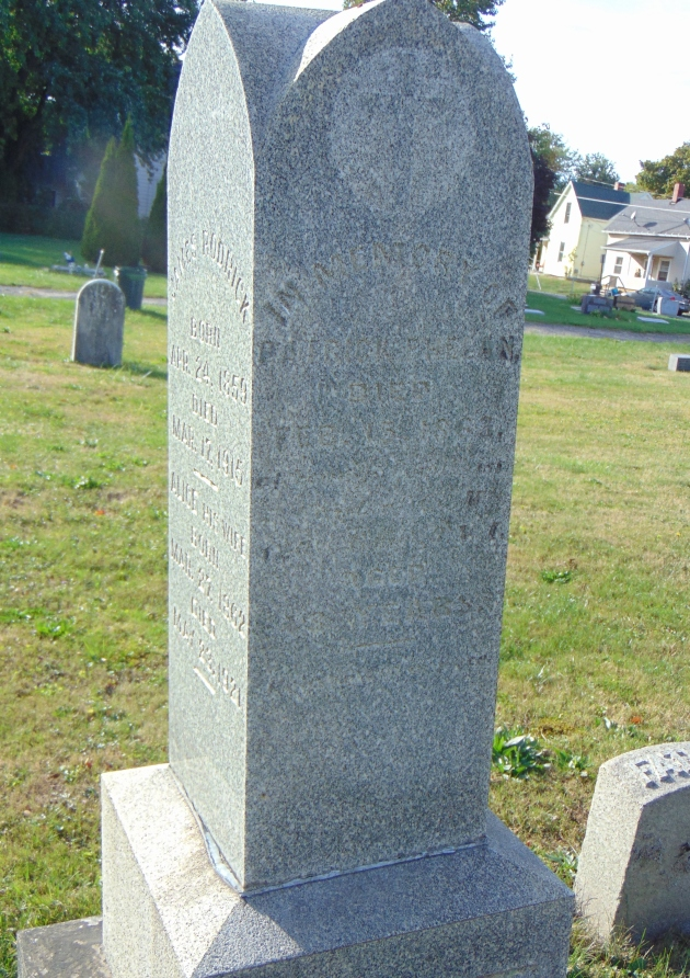 Memorial to Catharine Phelan and her husband Patrick in Mansfield, Ohio (Image; Tracey Harry, Find A Grave)