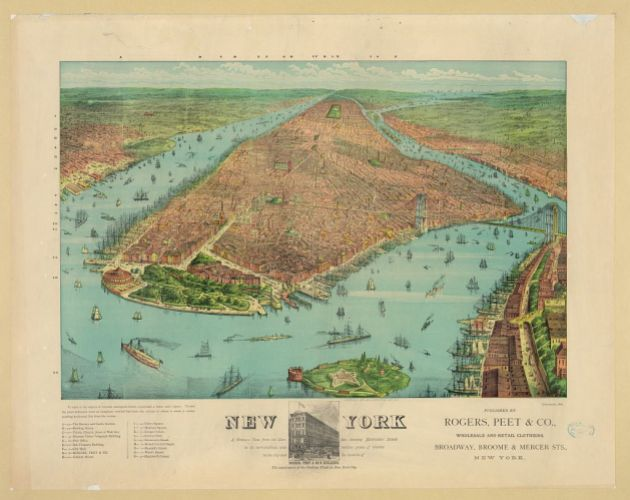 The New York the Desmonds knew. 1879 Currier & Ives maps (Library of Congress)