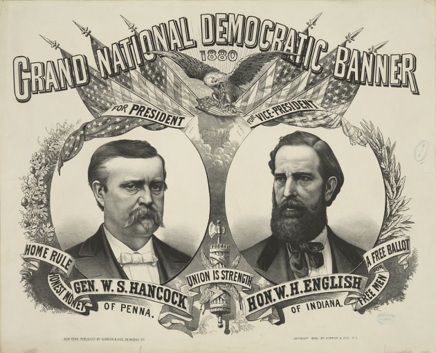 1880 Democratic Campaign Poster for Winfield Scott Hancock (Library of Congress)