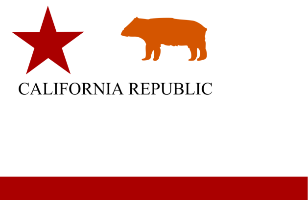 Californian Bear Flag. Originally a symbol of the Republic, bear flags were flown by some Californian supporters of Secession in the early part of the war (Wikipedia)