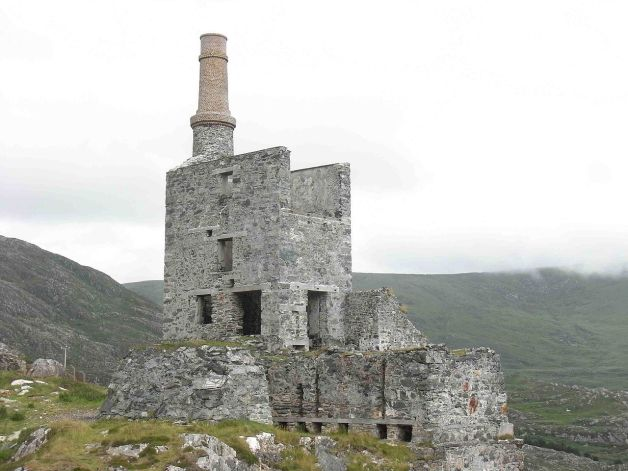 Engine House of the Mountain Mine, Allihies, West Cork. Many of the emigrants from where the O'Learys (and likely the Harringtons) hailed from were already part of mining communities (Peter Bell)