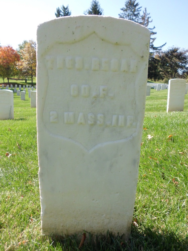 The grave of Thomas Regan at Mountain Home National Cemetery (Bruce Williams)